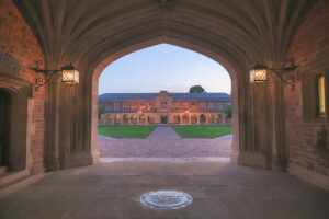 Ridgely Hall-Brookings archway