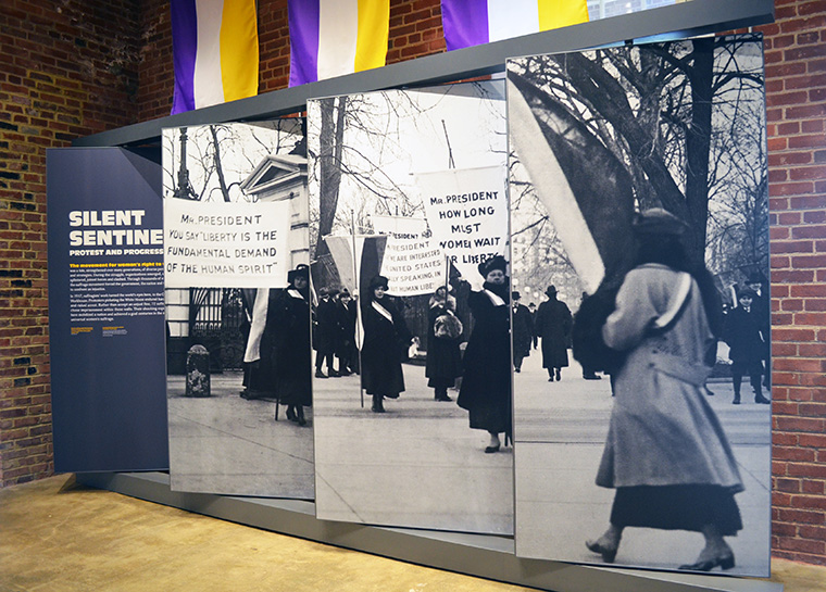 "The suffragists who picketed the White House became known as the ""Silent Sentinels,"""