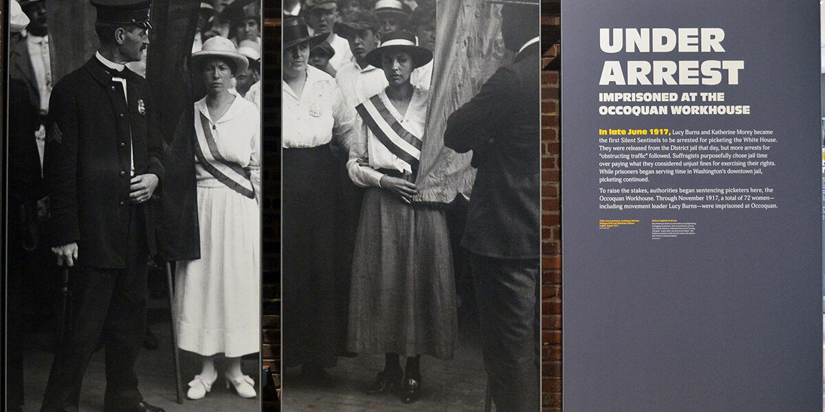 The Lucy Burns Museum opened in January 2020 paying tribute to the 72 women imprisoned at the Occoquan Workhouse for picketing for the right to vote in 1917. (Courtesy photo)