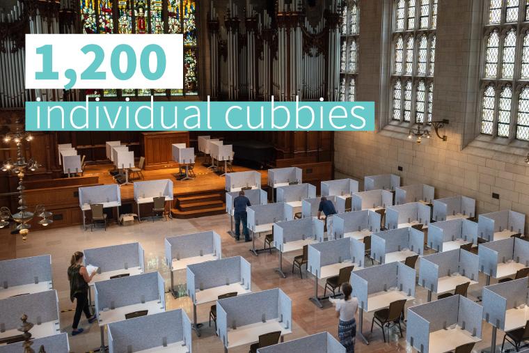 study cubbies in Graham Chapel