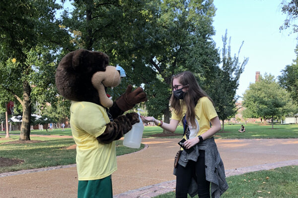 Student health ambassadors promote masks, health checks and physical distancing