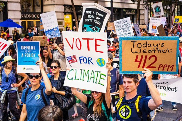 Majority of all voters say climate change is real; more Democrats consider it a problem
