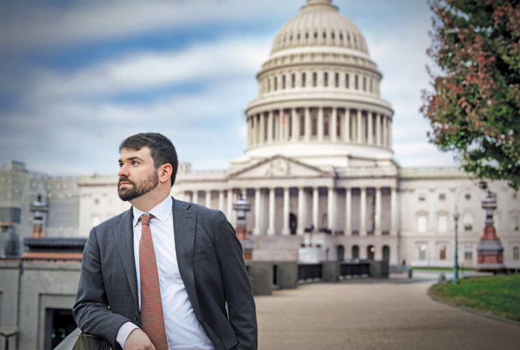Gabe Rubin, Wall Street Journal reporter, on Capitol Hill.