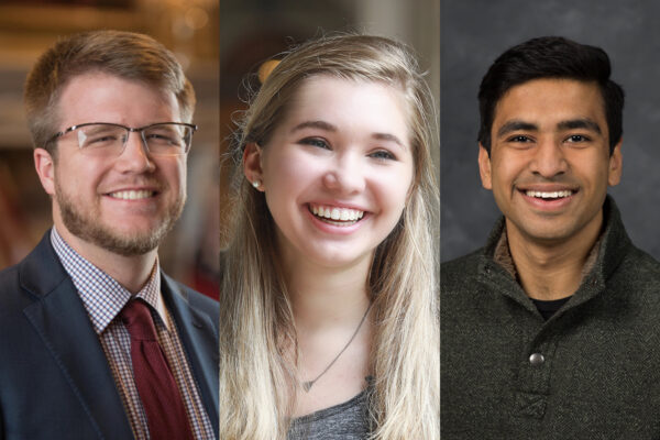 Three Washington University scholars were Rhodes finalists