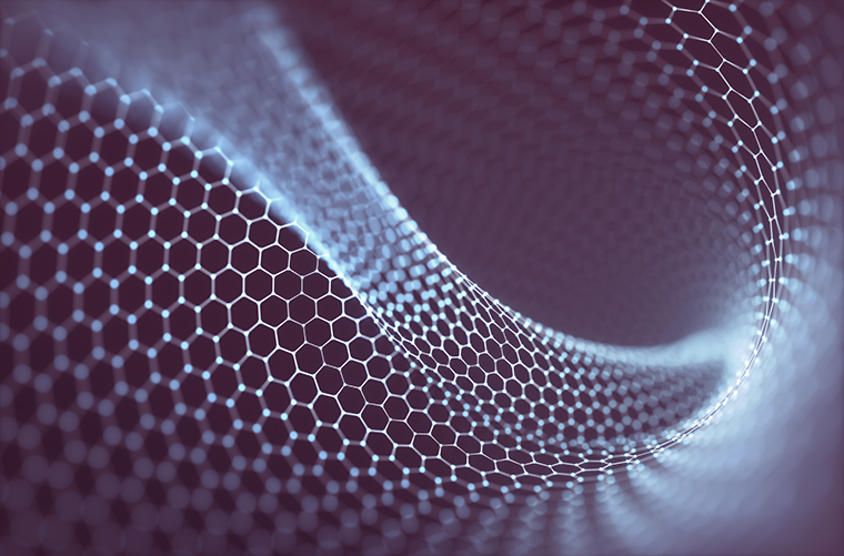 3d conceptual image with hexagonal structure