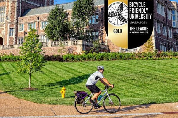 Washington University named a Gold Bicycle Friendly University