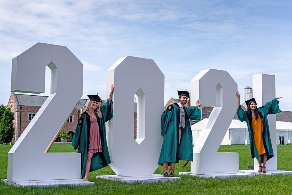graduates at 2021 Commencement