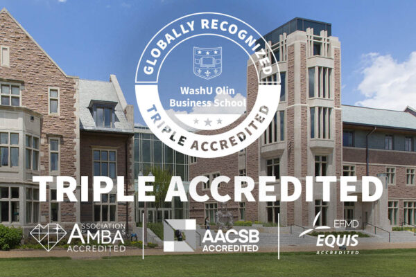 Olin earns rare triple accreditation, launches online MBA for digitally enabled leaders