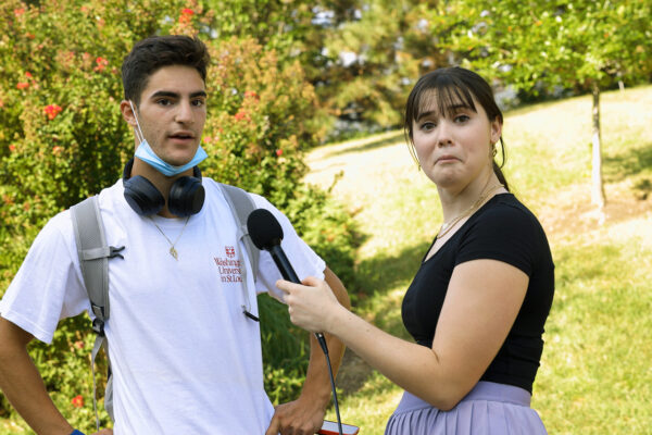 Video: First day for first-year students