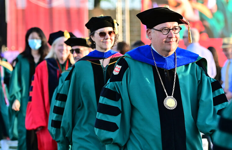 In May, Chancellor Andrew D. Martin's first in-person Commencement as chancellor included eight separate ceremonies for the Class of 2021 and three for the Class of 2020. (Photo: James Byard)