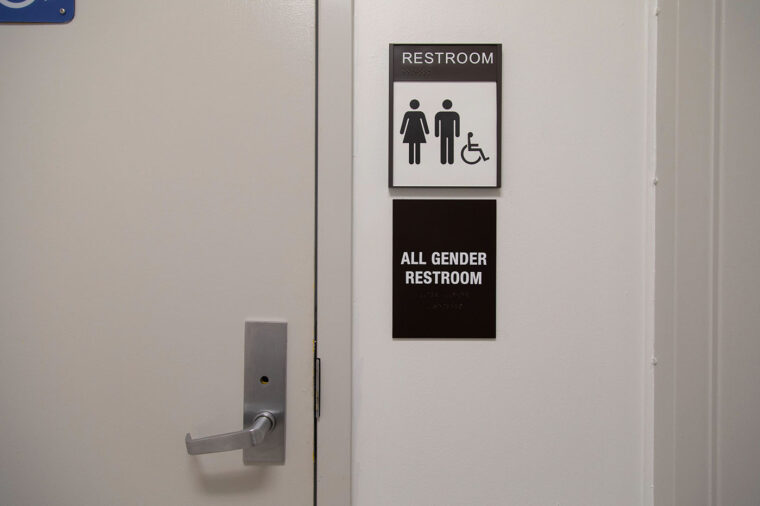 Free menstrual products available in restrooms