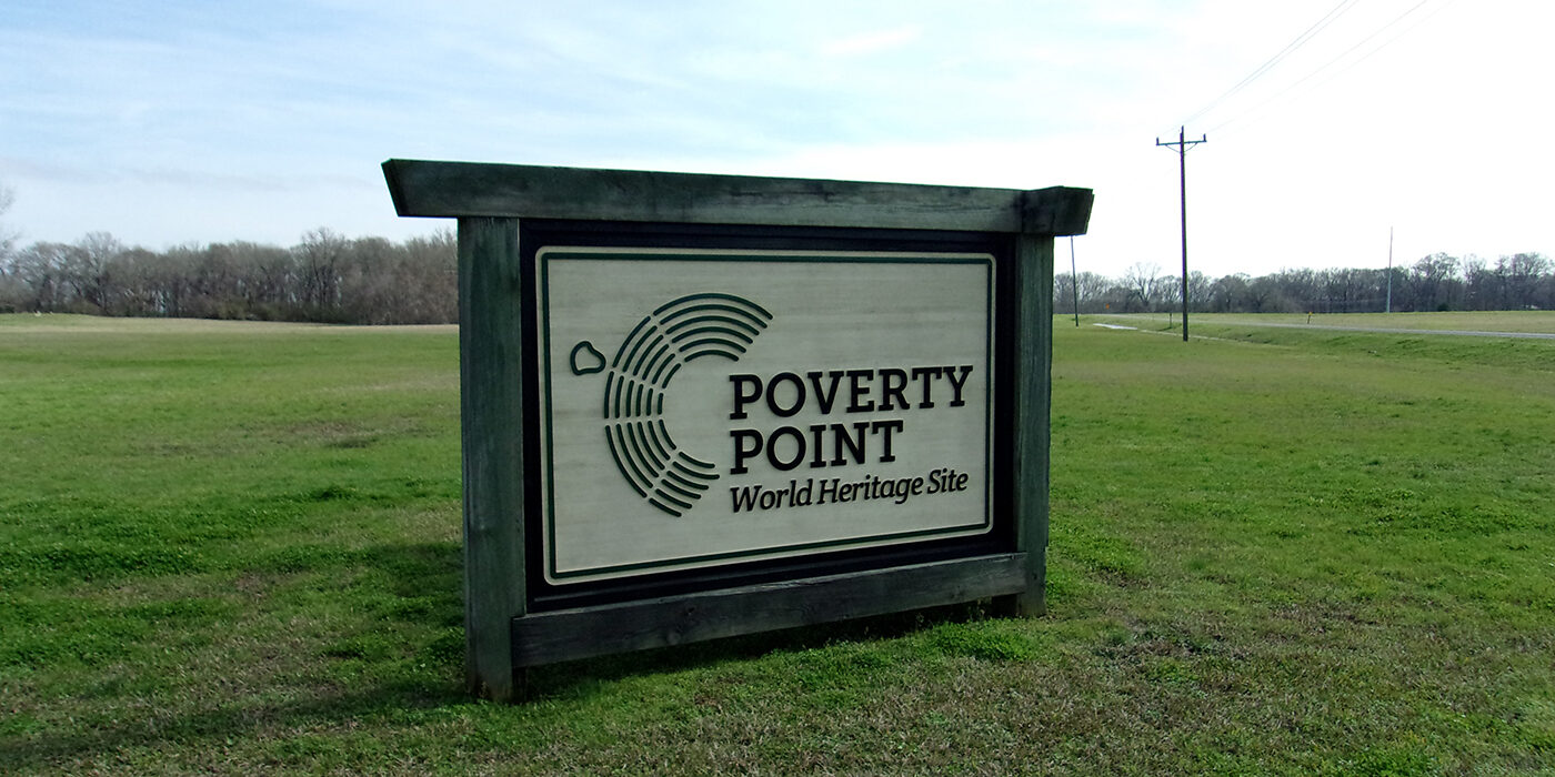 Poverty Point sign