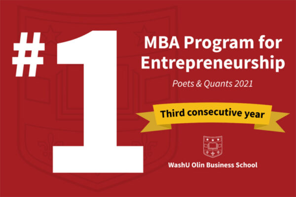Olin's MBA entrepreneurship program earns top ranking