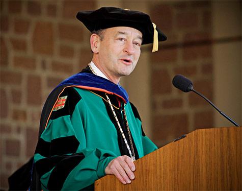 Chancellor Mark Wrighton addressing the 2014 graduates