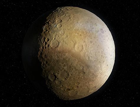 artist's rendering of Pluto