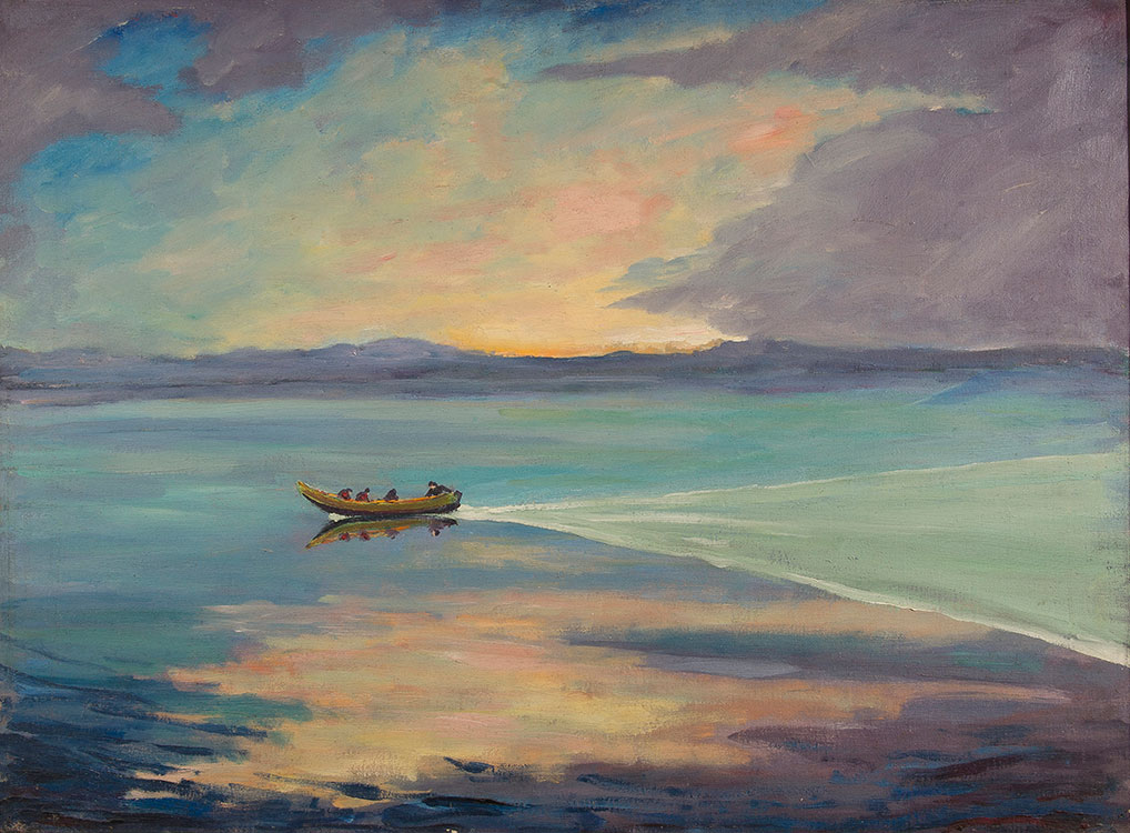 The Paintings Of Sir Winston Churchill On Display At