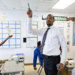 Josh Humphrey leading math class